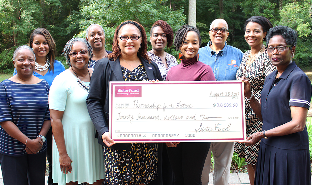 SisterFund Awards $20,000 to Partnership for the Future